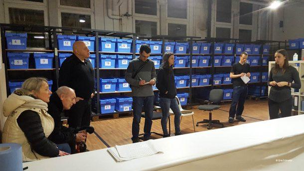 Freiwillig und hauptamtliche Mitarbeiter engagieren sich in der Kältehilfe im Hangar 4