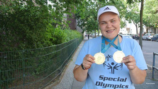Sabine Wegener gewann zwei Goldmedaillen bei den Special Olympics 2018 in Kiel