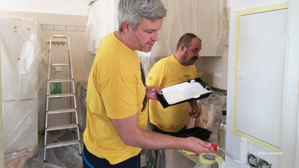 Engagierte renovieren die Wohnungslosentagesstätte